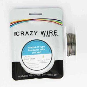 Crazy Wire FeCrAl A1 Alloy (Kanthal A1) – 10m (33′)
